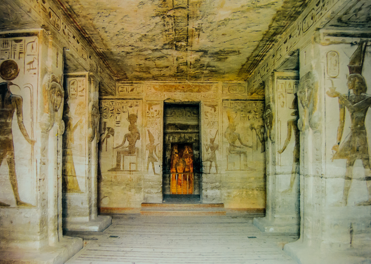 Interior of the Small temple, dedicated to Hathor and Nefertari