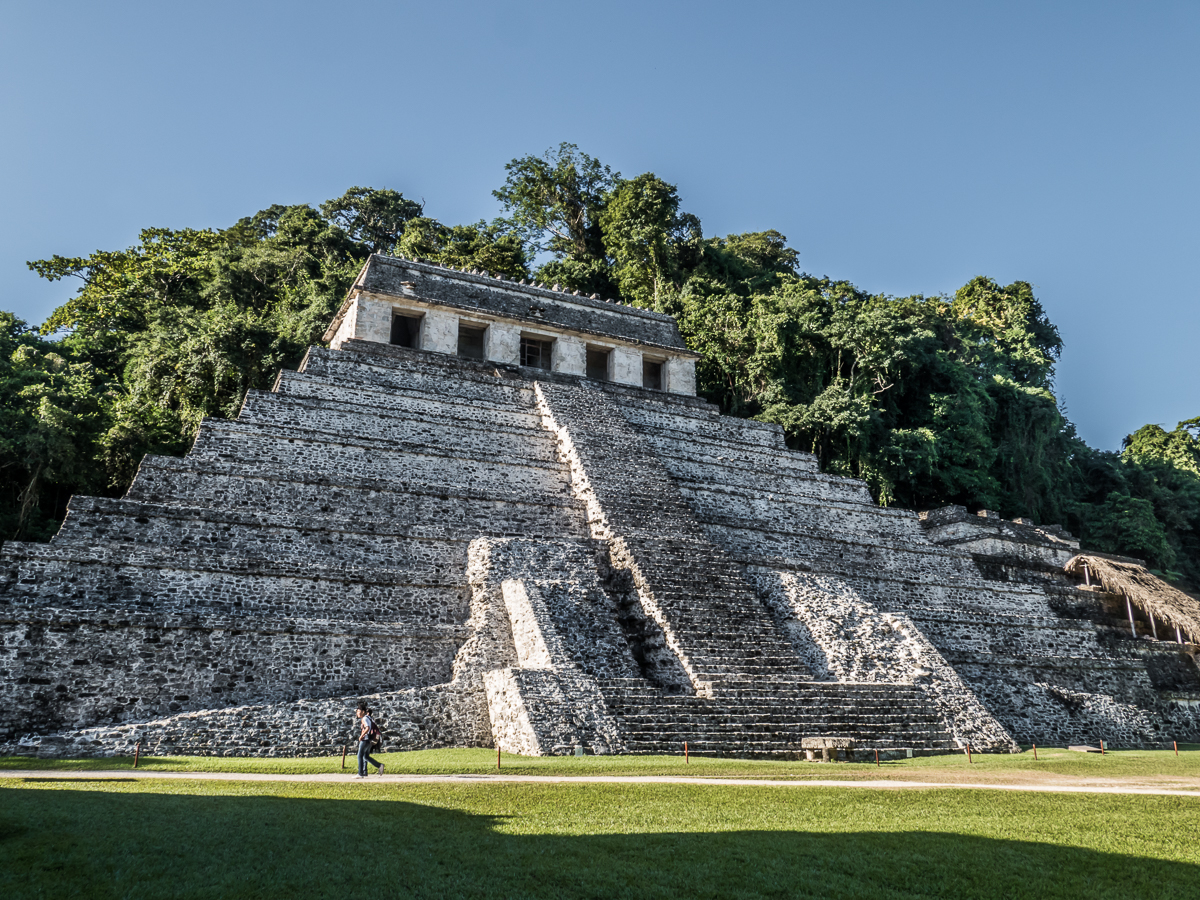 Temple of the Inscriptions, containing the tomb and sarcophagus of Lord Pakal the Great.